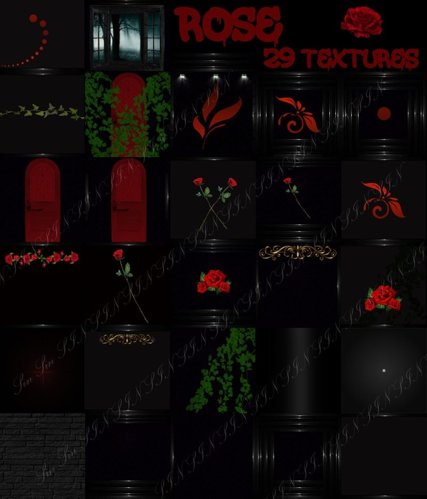 Rose Textures (29 Room Textures for IMVU)