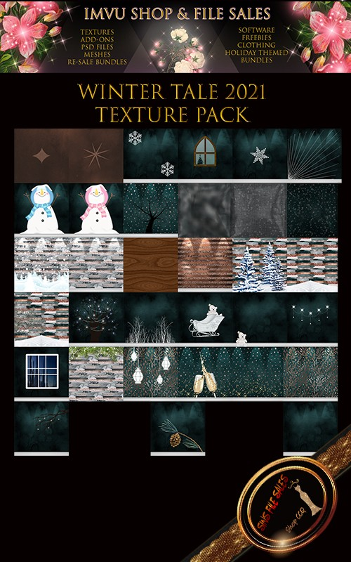 Winter Tale- 2021 Texture Pack 33 Files