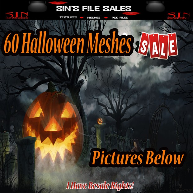 60 Halloween Meshes *NEW* Priced for this Week Only!