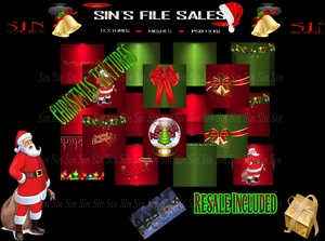 Christmas Texture Pack w/Resale