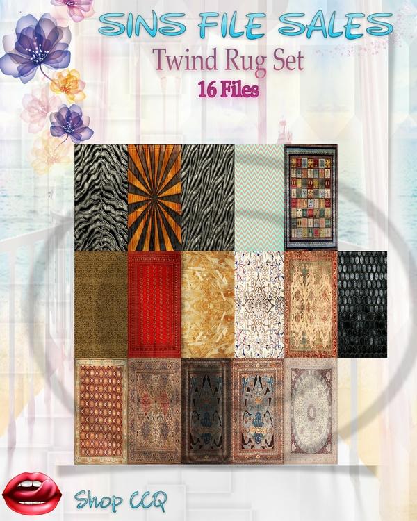 •Twind Rug Set•