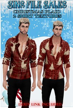 Christmas Plaid Mens Shirts