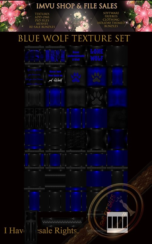 Blue Wolf Texture Pack- 44 Files