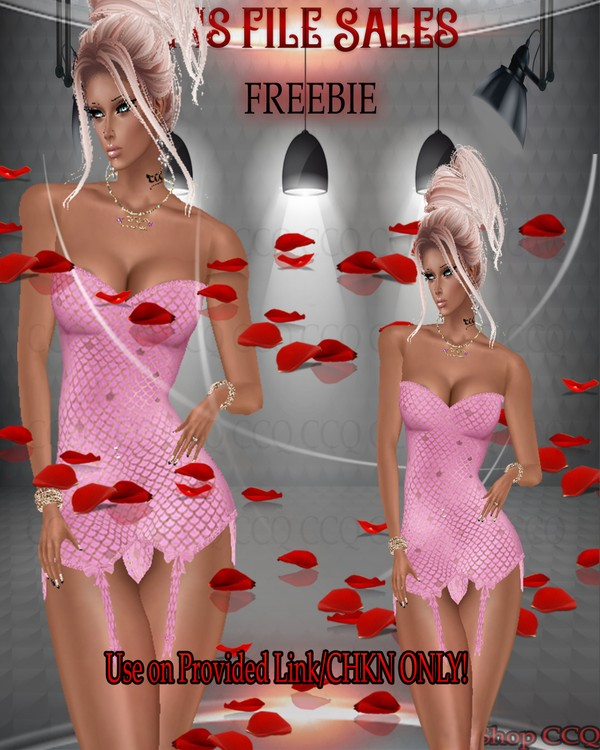 ♥FREEBIE♥ Pink Corset CHKN Included