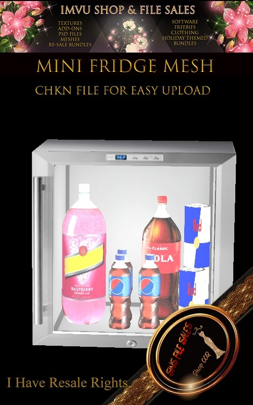 Mini Fridge Mesh