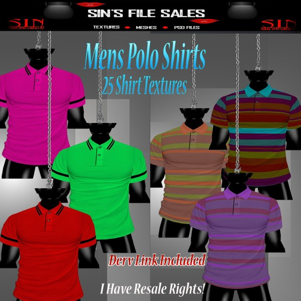 Mens Polo Shirt Pack* 25 Shirts