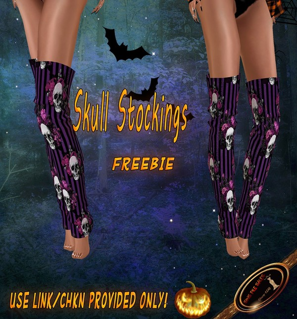 💀Freebie💀 Skull Stockings
