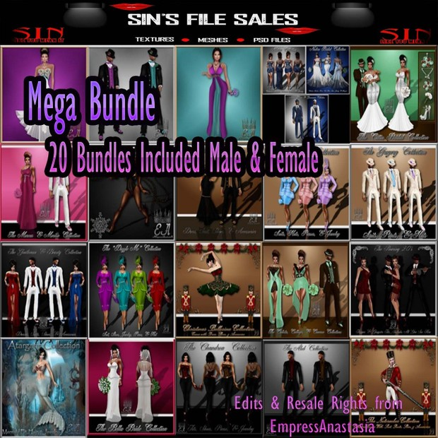 Mega Collection ( 20 Bundles Male & Female) Limited!!!