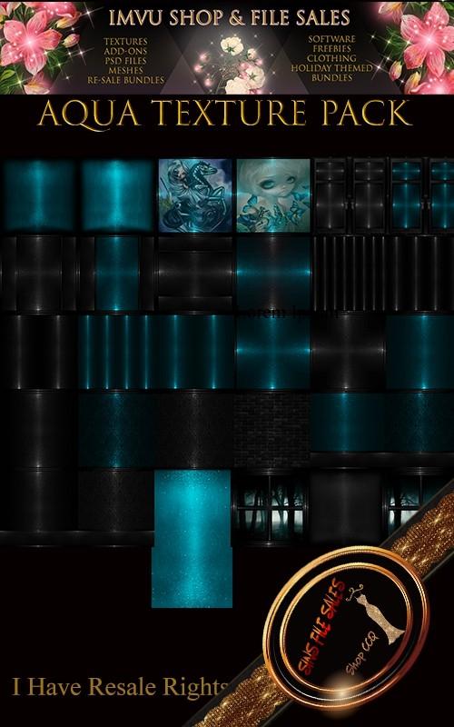 Aqua Texture Pack- 31 Files