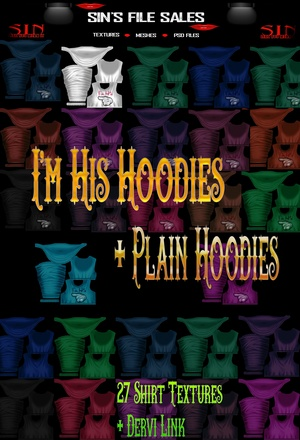 I'm His + Plan Hoodie Set *Female* 27 Shirt Textures Included