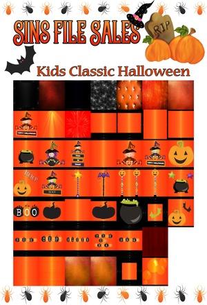 Classic Kids Halloween Textures *47 png
