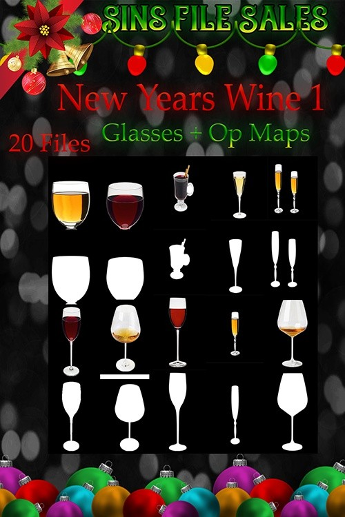 New Years Drink Glasses + Op Maps