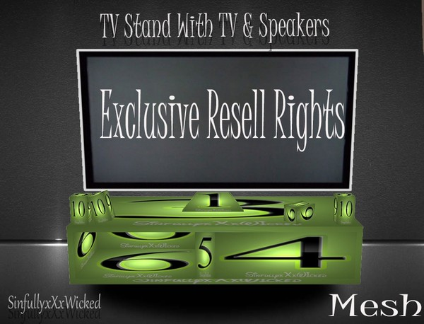TV Stand + TV & Speakers Mesh **Exclusive Resell Rights**Limited