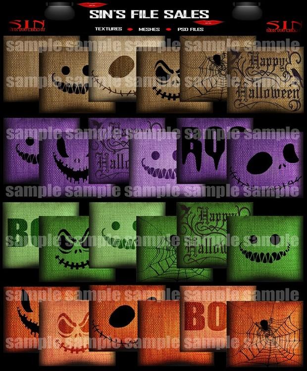 Halloween Pillow Pack 1 (56 png)