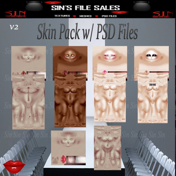 Skin Pack + PSD Files V2