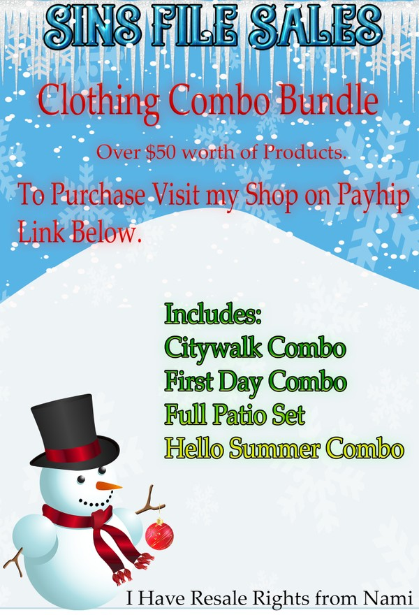 (Purchase from Payhip)--Clothing Bundle- 4 Combos Included