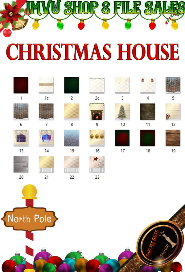 🎅Christmas House Texture Pack- 25 Files 🎅