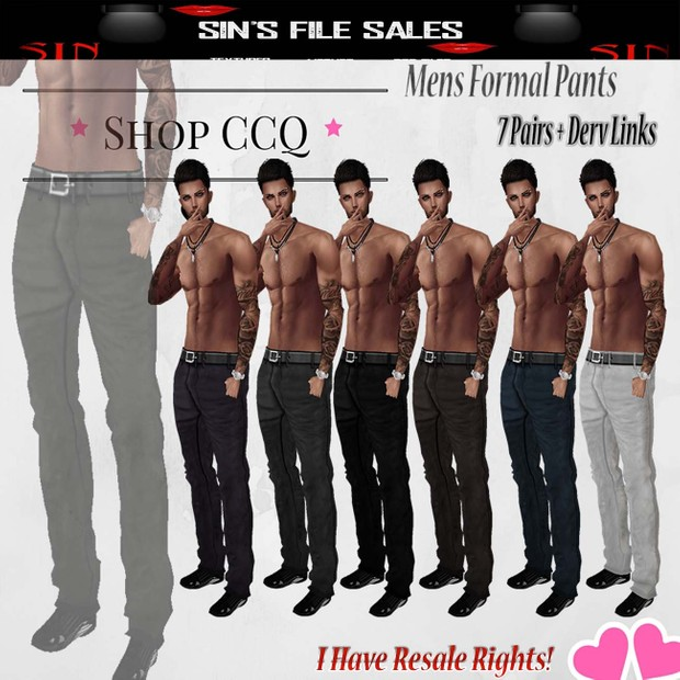 Mens Formal Pants *7 Pair
