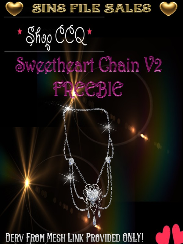 ~Freebie~ Sweetheart Silver Chain