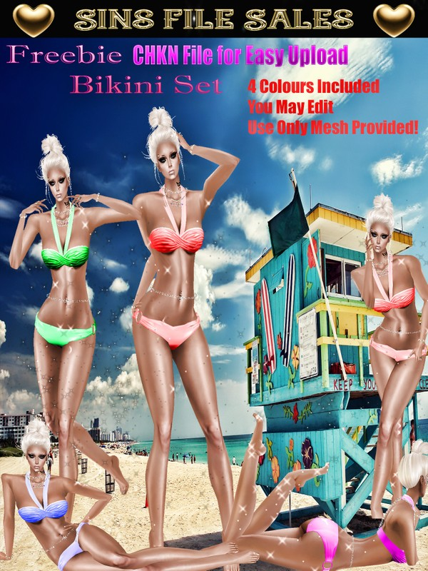 Free Bikini Set* CHKN Included for Easy Upload.