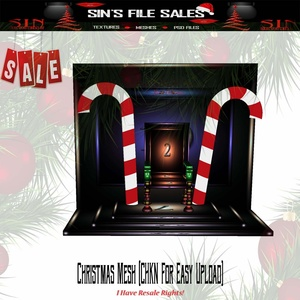 🎄Santa Throne With Poses (CHKN File for Easy Upload)🎄