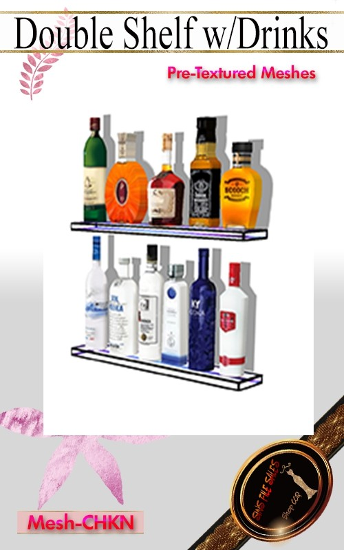 •Double Wall Shelf with Drinks Mesh•