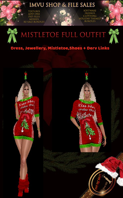 Mistletoe Full Outfit, Derv Links Included