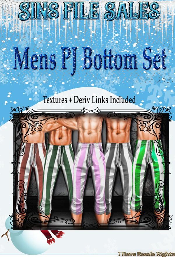 Mens PJ Bottom Set