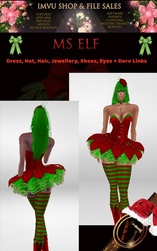 Ms Elf- Full Outfit- Derv Links Included