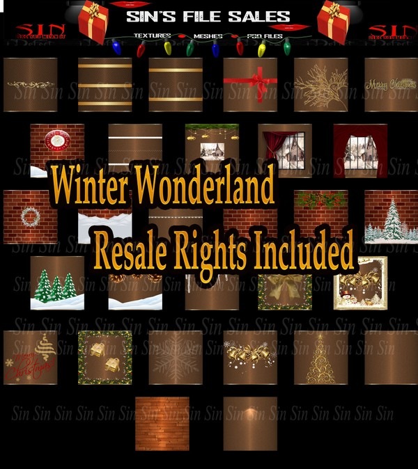 ❄Winter Wonderland Texture Pack ( Resale Rights Included)❄