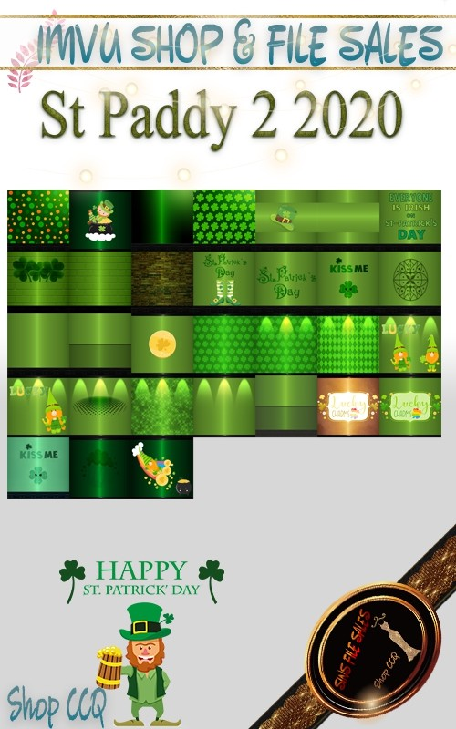 St Paddy #2 -2020 Texture Pack- 31 Files