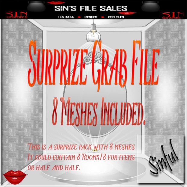 Surprise Mesh Pack * 8 Meshes In Total with RESALE Rights