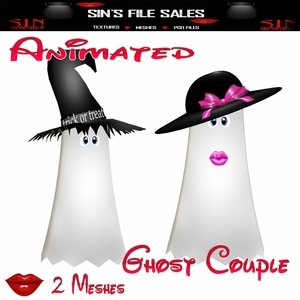 Animated Ghost Couple Mesh * 2 Meshes