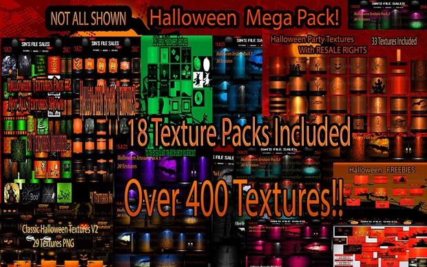 🎃👻 Mega DEAL/Resale On Certain Packages 🎃👻 18 Texture Packs Over 400 Textures! 🍬