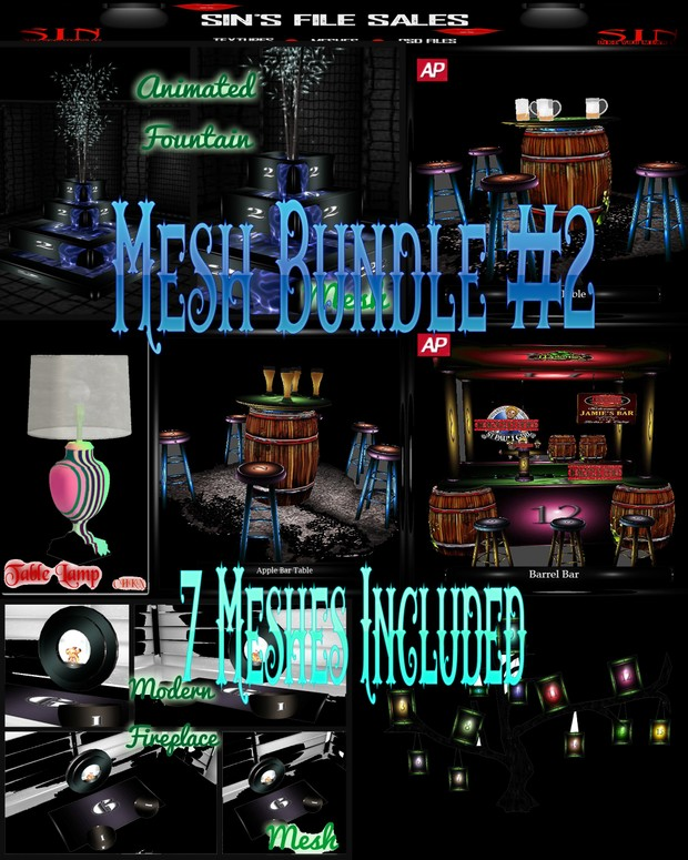 Mesh Bundle Two * 7 Meshes Included