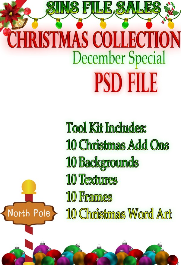 Christmas Tool-Kit (50 Items-PSD File)