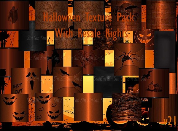 Halloween Texture Pack w/Resale Rights V21