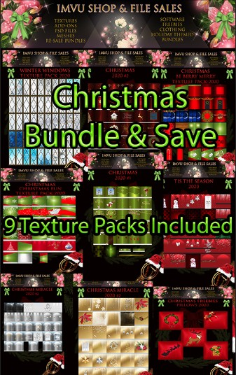 ****Santa SALE Limited****Christmas Bundle & Save 2020- 9 Texture Packs Included.