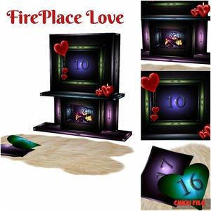 Love Fireplace Mesh