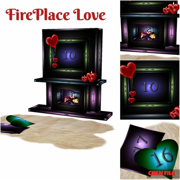 Love Fireplace Mesh