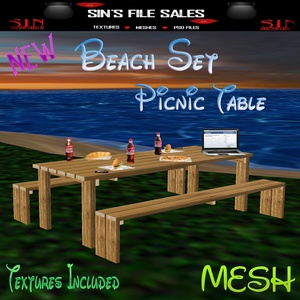 Picnic Table Beach Style *Mesh w/Textures