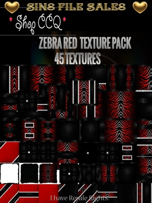 Red Zebra Texture Pack