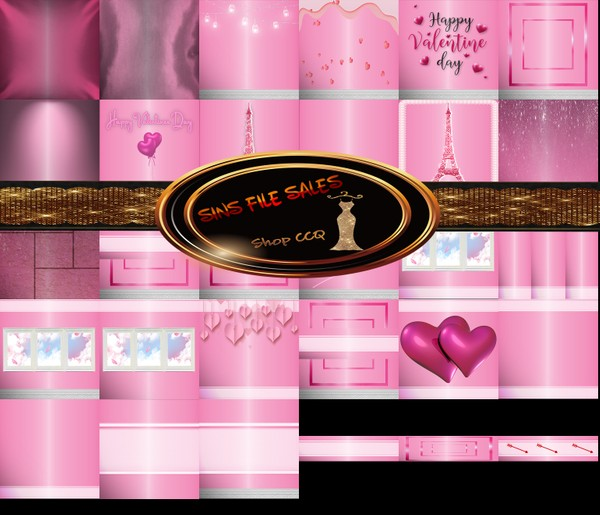 ♥Valentine Texture Pack-30 Files♥