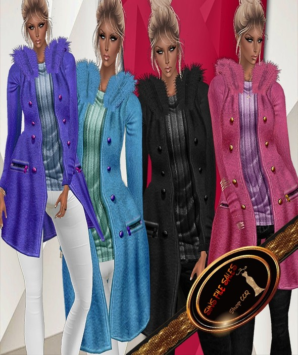 4 Long Fur Winter Jackets Female