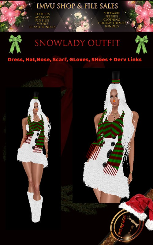 SnowLady Full Outfit with Derv Links