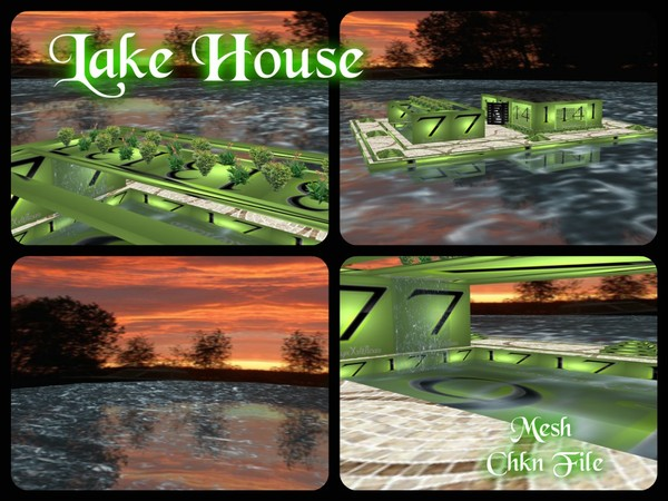Lake House (IMVU Room Mesh)