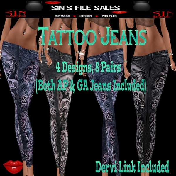 Tattoo Jeans Bundle (AP & GA Included)