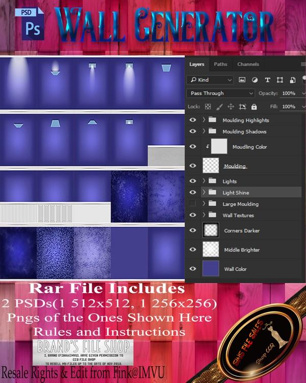 •Wall Generator• PSD + Textures