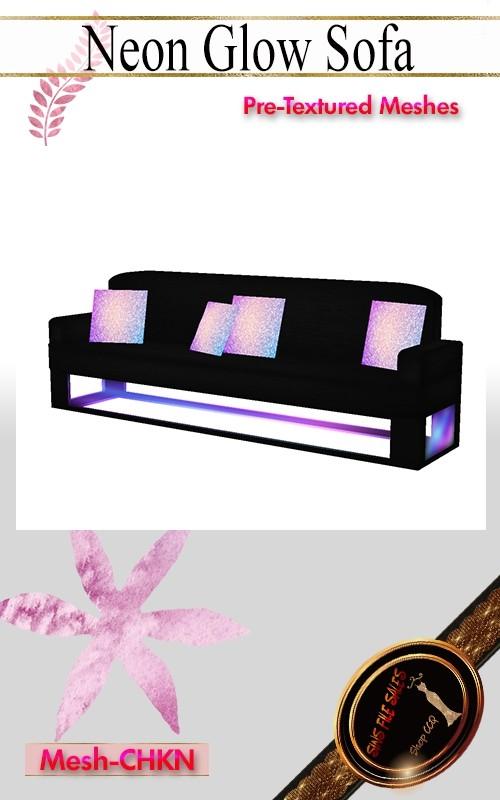 •Glow/Neon Sofa Set•