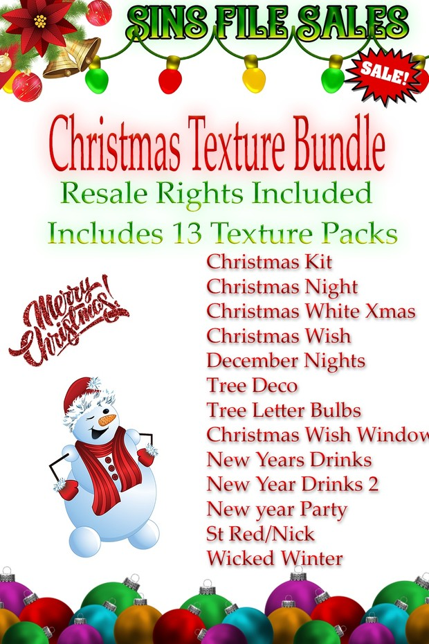Christmas Texture Bundle With Resale Rights